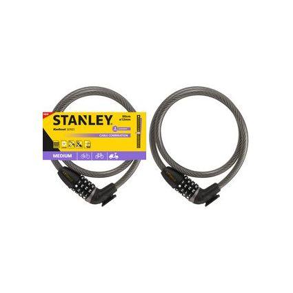 "STANLEY Kabel-Fahrradschloss ""CABLE-COMBI"", Länge: 900 mm"