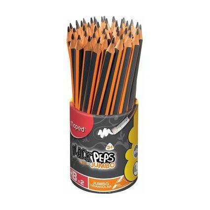 Maped Bleistift BLACK'PEPS JUMBO, mit Radierer, 46er Köcher