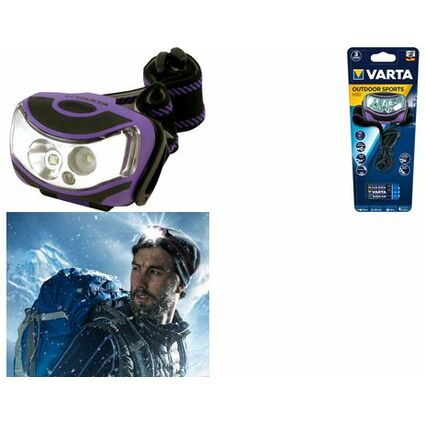 "VARTA LED-Kopflampe ""Outdoor Sports"", 2 x 1 Watt LEDs"