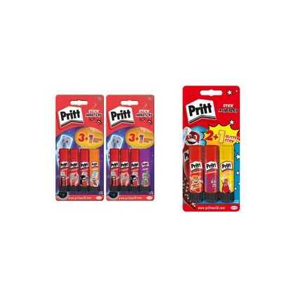 Pritt Design-Klebestift, 3 x 11 g + 1 x 10 g, Blisterkarte