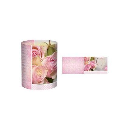 """URSUS Mini-Tischlicht """"Hochzeit Rose"""", Motiv 2"""