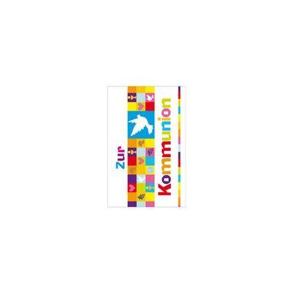 """SUSY CARD Kommunionskarte """"Kleine Karos und Taube"""""""