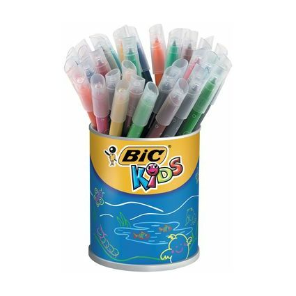 BIC KIDS Fasermaler Kid Couleur medium, 36er Runddose