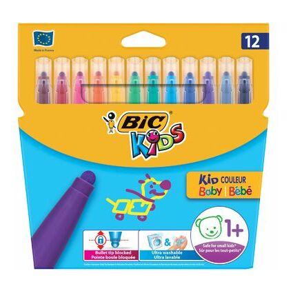 BIC KIDS Fasermaler Kid Couleur Baby, 12er Kartonetui