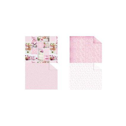 """URSUS Fotokarton """"Hochzeit Rose"""", 300 g/qm"""