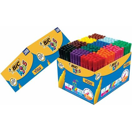 BIC KIDS Fasermaler Visa, 288er Kartonbox