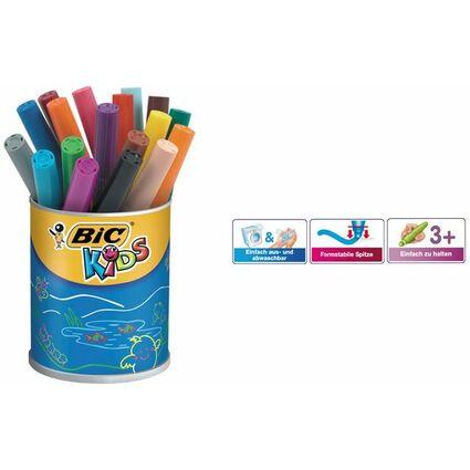 BIC KIDS Fasermaler Visacolor XL, 18er Runddose