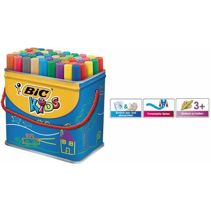 BIC KIDS Fasermaler Visacolor XL, 48er Box