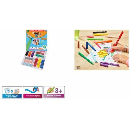 BIC KIDS Fasermaler Visacolor XL, 96er Klassenpackung