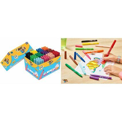 BIC KIDS Fasermaler Visacolor XL, 144er Kartonbox