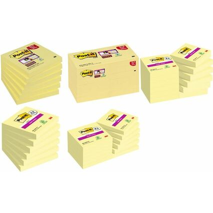 Post-it Haftnotizen Super Sticky Notes, 47,3 x 47,6 mm, 9+3