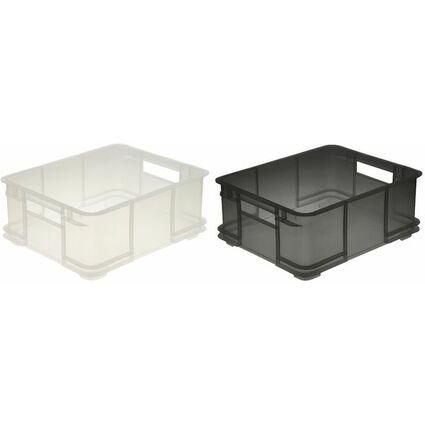 "ok Aufbewahrungsbox ""Euro-Box L"", 20 Liter, natur"