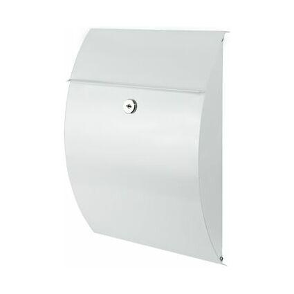 BURG-WÄCHTER Stahl-Briefkasten Capri, weiß