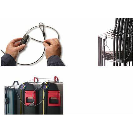 BURG-WÄCHTER Universal-Kabelschloss Snap+Lock, schwarz