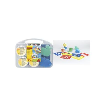EBERHARD FABER Fingerfarbe-Set EFA Color, Kunststoffkoffer