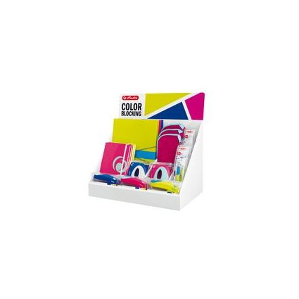 herlitz Thekendisplay Color Blocking, 24-teilig