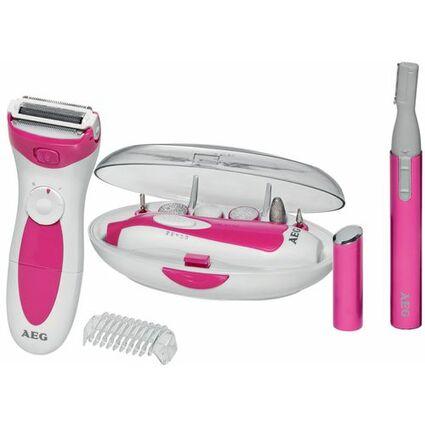 AEG Beauty-Set SB 5676, weiß/pink