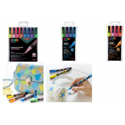 uni-ball Pigmentmarker POSCA PC-3ML Glitter, 8er Box