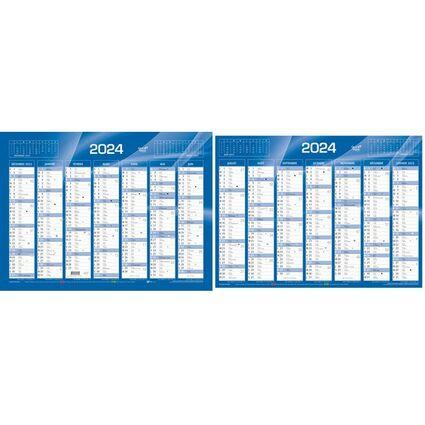 QUO VADIS Calendrier de banque bleu 2017, 550 x 405 mm