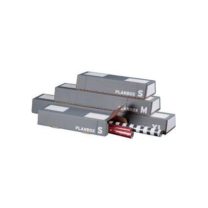 """smartboxpro Trapez-Versandhülse """"PLANBOX M"""", DIN A1, grau"""