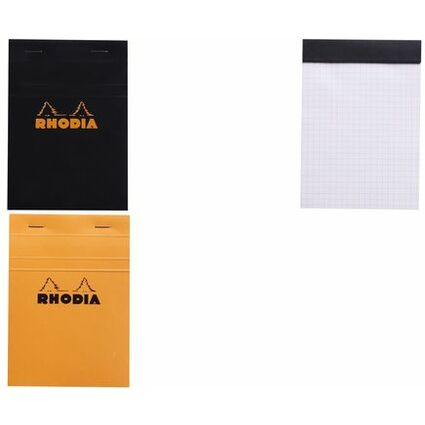 RHODIA Notizblock No. 13, DIN A6, kariert, orange