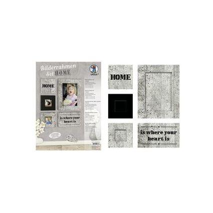 """URSUS Bilderrahmen-Set """"Home"""", Beton-Optik"""