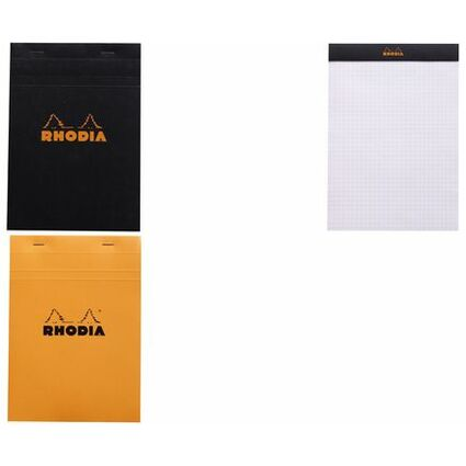 RHODIA Notizblock No. 16, DIN A5, kariert, orange