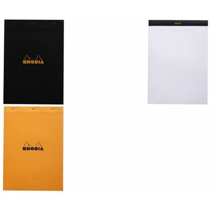 RHODIA Notizblock No. 18, DIN A4, kariert, orange