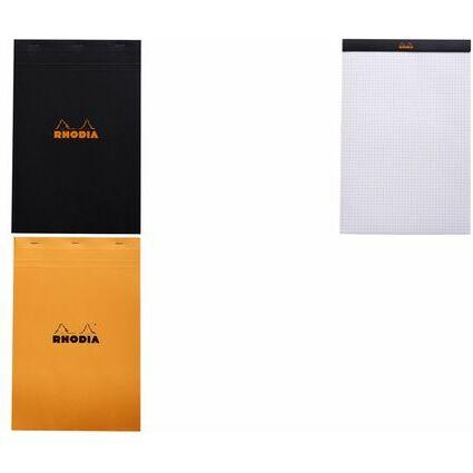 RHODIA Notizblock No. 19, DIN A4+, kariert, orange
