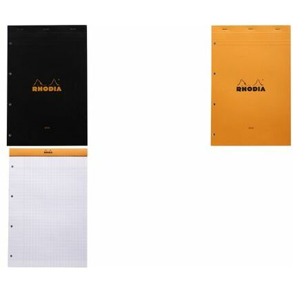 RHODIA Notizblock No. 20, DIN A4+, franz. Lineatur, orange