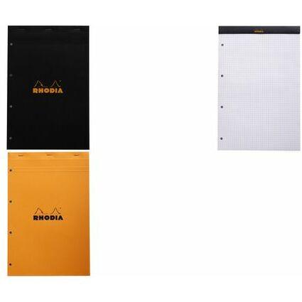 RHODIA Notizblock No. 20, DIN A4+, kariert, orange