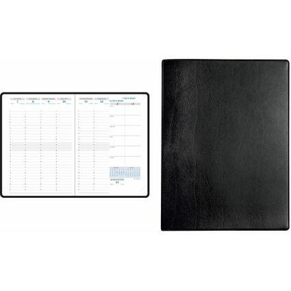 EXACOMPTA Buchkalender Visuel, 2017, Barbara, schwarz