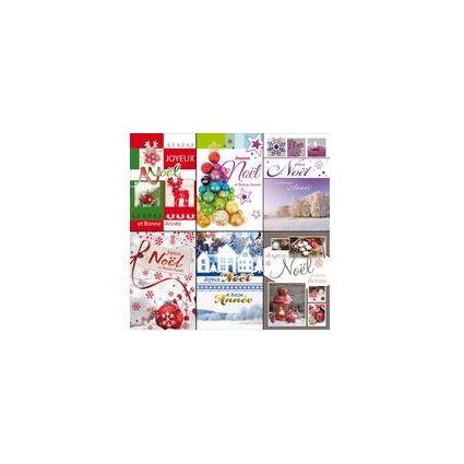 WEIGERT Cartes de voeux Joyeux Noël et Bonne Année, lot de 6