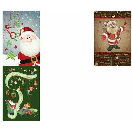 """WEIGERT Carte de voeux Joyeux Noël """"Père Noël rouge"""""""