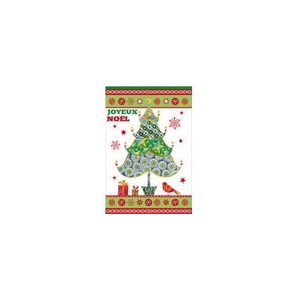 """WEIGERT Carte de voeux Joyeux Noël """"Sapin rouge et or"""""""