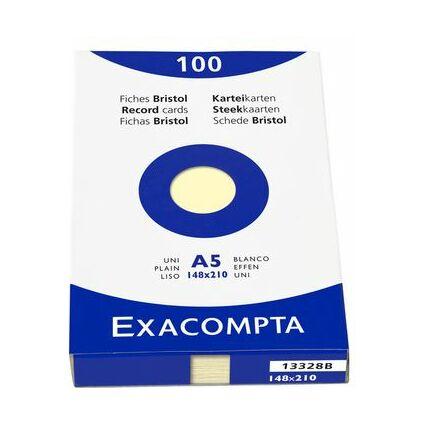 EXACOMPTA Karteikarten, DIN A5, blanko, gelb