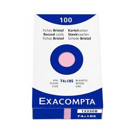 EXACOMPTA Karteikarten, DIN A7, kariert, rosa