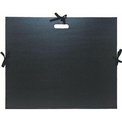 EXACOMPTA Zeichnungsmappe, 500 x 720 mm, Karton, schwarz