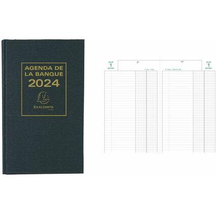 EXACOMPTA Buchkalender Banquier large 2017, schwarz