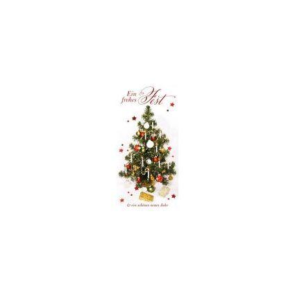 HORN Weihnachtskarte - Geschmückter Weihnachtsbaum -