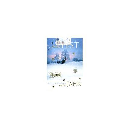 HORN Weihnachtskarten - Winterlandschaft  - inkl. Umschlag