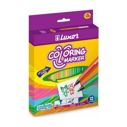 """Luxor Fasermaler """"Coloring Marker"""", 6er Etui"""