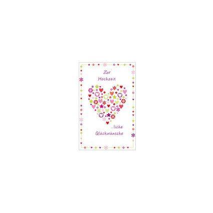 """SUSY CARD Hochzeitskarte """"Herz aus Elementen"""""""