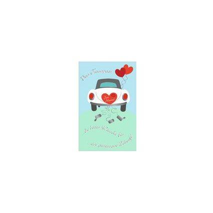 """SUSY CARD Hochzeitskarte """"Hochzeitsauto"""""""