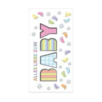 "SUSY CARD Geburtskarte ""BABY-Babyfüße"""