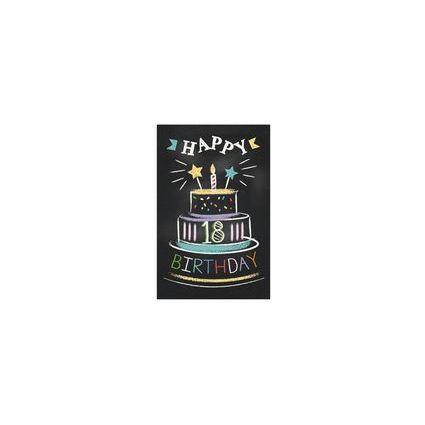 """SUSY CARD Geburtstagskarte - 18. Geburtstag """"Torte"""""""