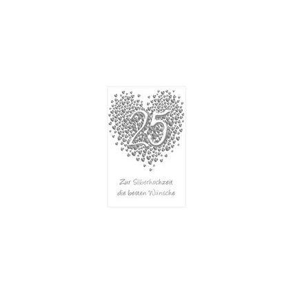 """SUSY CARD Hochzeitskarte - Silberhochzeit """"Herz"""""""