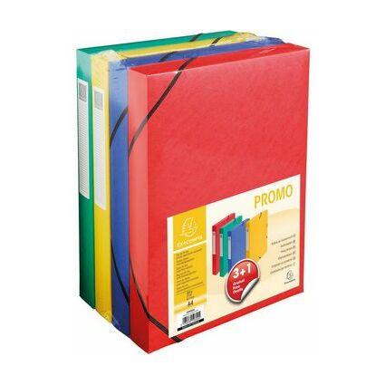 EXACOMPTA Sammelbox Promo-Pack 3+1, 40 mm, farbig sortiert
