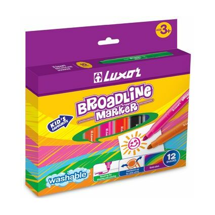 """Luxor Fasermaler """"Broad Line Marker"""", 12er Etui"""