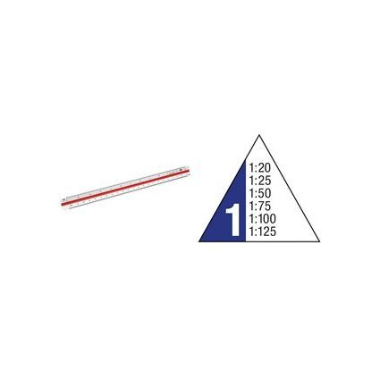 """WEDO Dreikant-Maßstab """"Architekt 1"""", aus Kunststoff, weiß"""